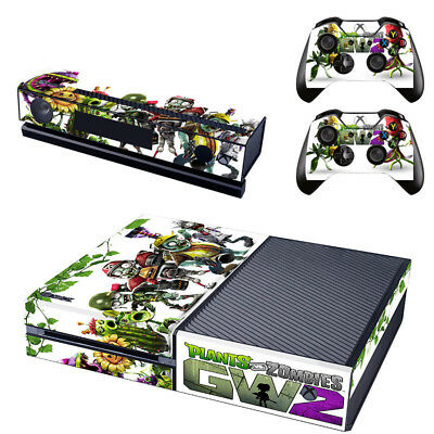Plants vs. Zombies Fiber Skin Sticker for Xbox One Console + 2 Controller skins