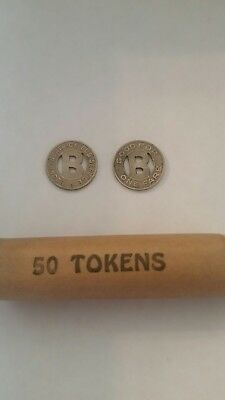 50 Boone Iowa Bus Tokens in a roll!!