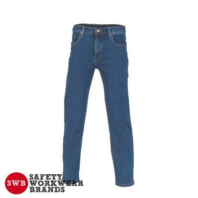 DNC Workwear Mens Denim Stretch Work Jeans Pants Trousers Casual Tradie New 3318