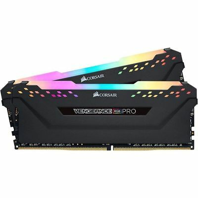 Corsair Vengeance RGB PRO 16GB (2x8GB) 3000MHz DDR4 Black Gaming Memory Ram Kit
