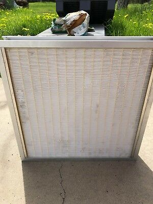 "HEPA-PLEAT II hepa filter with metal frame 19.5""x19.5""x3"""