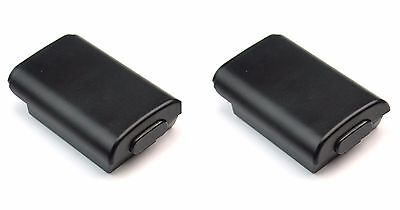 2x Black Battery Holder Pack Cover Shell For Xbox 360 Wireless Controller FH