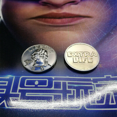 Movie Ready Player One Coin Extra Life Collection Cosplay resurgence Prop Cents
