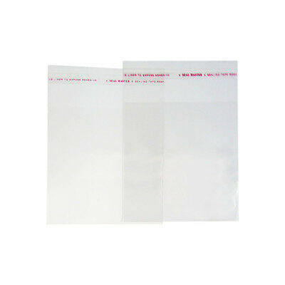 200x Self Adhesive Seal Bag 50x70mm Clear Plastic Poly Reuseable Pack Jewelry