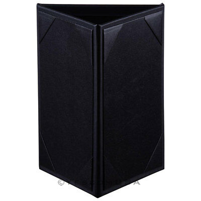 "10PCS 4""x6"" 3 Sides Table Tent Holder Black Menu Holder Bar Cafe Restaurant"