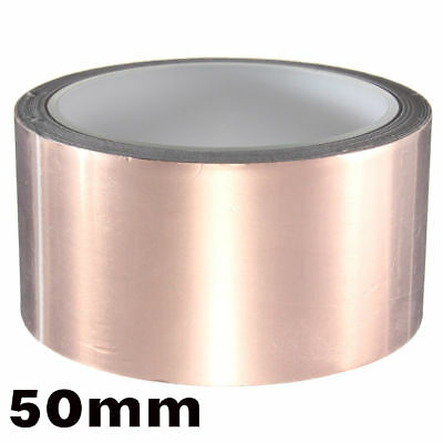 Conductive copper foil tape shielding for guitar or bass 50mm x 1 Meter