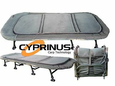 Cyprinus™ Memory Foam 8 Leg Extra Wide Bedchair Carp Fishing bed chair