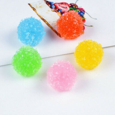 5 Pcs Resin Round Artificial Candy Cabochon for DIY Phone Case Jewelry Decor