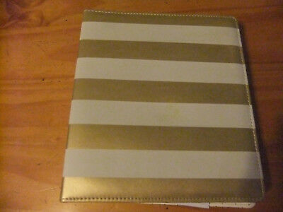Spiral Bound Organizer - White and Gold Padded Cover