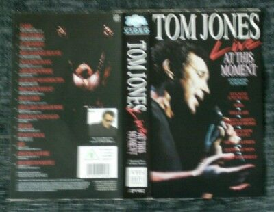 Tom Jones Live At This Moment Vhs Video Cover Insert