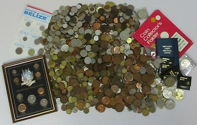 Job Lot of Old & Modern Mixed British UK European World Foreign Coin Coins 10+kg