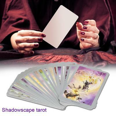 78 Pcs Shadowscapes Tarot Deck Cards English Board Game Future Forecasting Cards