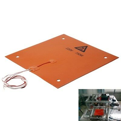 750w 220v 310*310mm Silicone Heated Bed Heating Pad for CR-10 3D Printer U9X3