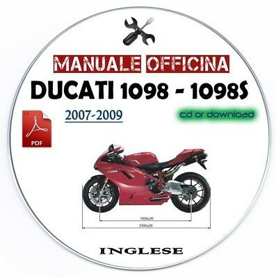 Manuale Officina Ducati 1098 - 1098 S 2007-2009 Workshop Manual Service Repair