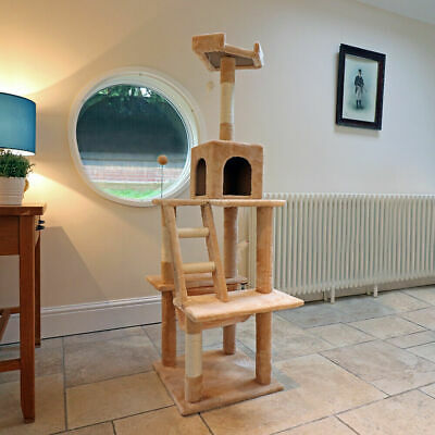 Wido LARGE CAT SCRATCHING POST/TREE TOY BED ACTIVITY CENTRE HOLE PLATFORM HOME