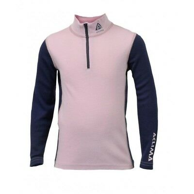 Aclima AS WW Mock Neck Zip Junior