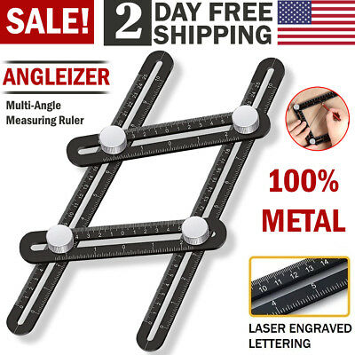 Metal Angleizer Multi Angle Measuring Ruler Folding Scale Template Tool DIY Work