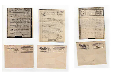 3 1943 Official V-Mail WWII Stationery Letters Iran Persia Victory Mail Dallas