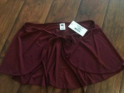Mariia Adult Nikita Mesh Dance Wrap Skirt, ME549 - Burgundy One Size NWT