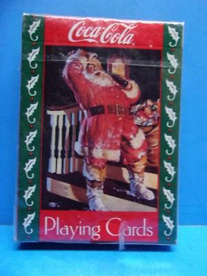 Vintage Coca Cola Playing Cards Santa Christmas 1993 Sealed Deck #334