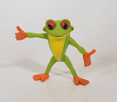 """Animated Red-Eyed Tree Frog 3.25"""" Rainforest Cafe PVC Action Figure RFC"""