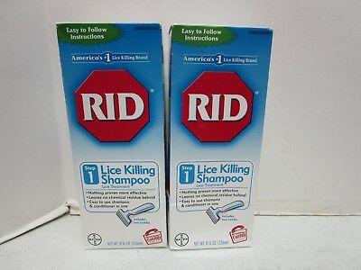 2 Rid Lice Killing Shampoo With 2 Comb Step 1 - 8 Fl Oz Each - 6/19+ Mm 11355