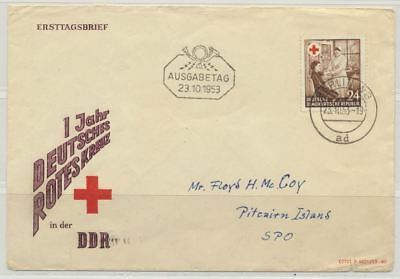 Pitcairn Islands 1953 E.germany Missent To Iceland Unusual Rare