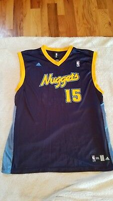 f6cf3e357 MENS VTG NBA Denver Nuggets  15 Carmelo Anthony Adidas EUC Jersey Sz ...