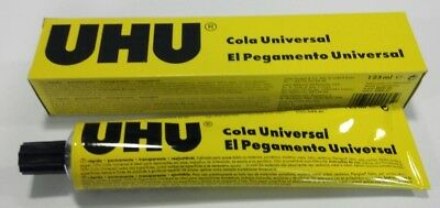 2x 125ml UHU All Purpose Glue Jumbo Size Tube Strong Clear Adhesive Art Craft