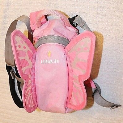LittleLife Pink with Fairy Wings Back Pack Child's Safety Harness