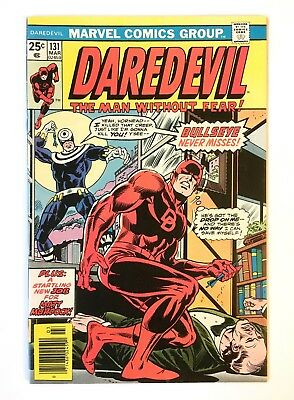 DAREDEVIL #131 BEAUTIFUL HIGH GRADE UNRESTORED1st app Bullseye 1976 CGC worthy!
