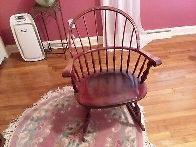 Vintage Windsor/bowback Rocking Chair   Solid Cherry   Great Condition!