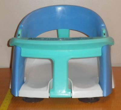 Baby Dream Blue Bath Tub Ring Safety Seat Folds Up