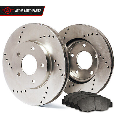 1996 1997 1998 Honda Civic EX Cpe (Cross Drilled) Rotors Metallic Pads F