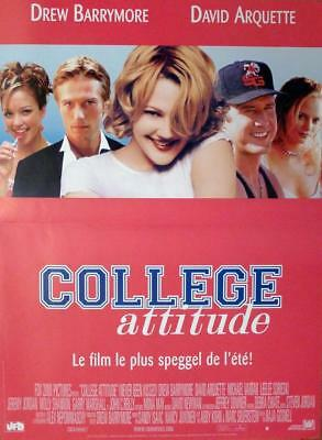 Never Been Kissed - Barrymore / Arquette / College -Original French Movie Poster