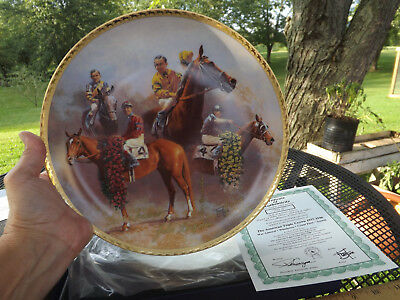 FRED STONE American Triple Crown 1937-1946 Plate w/ COA - #705 Gold Signatures