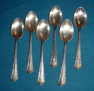 Silver 830 Sweden Hallmarks Oval 3 Crowns S Lot 6 Tea Cake Dessert Spoons