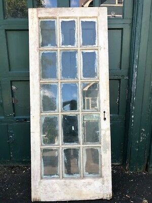 Antique Beveled Exterior / Interior  Glass Door