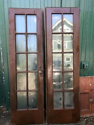 ANTIQUE DOUBLE FRENCH DOORS chestnut / painted