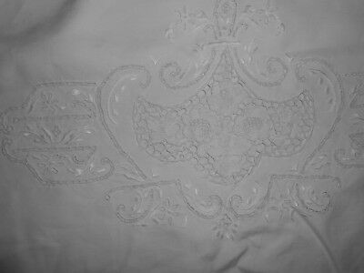 1920's LINEN PILLOWCASE NEEDLE LACE AND EMBROIDERY