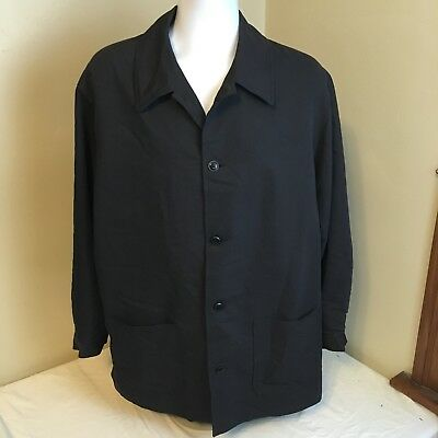 Vito Rufolo Uomo Couture Mens Jacket Coat Black Large Made in Italy Free Ship!