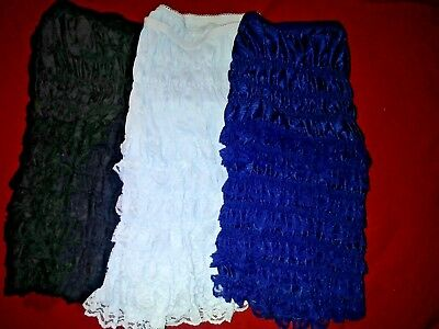 BNWT Pettipants, ruffled, lace, bloomers, adult square dance or costume XL lot