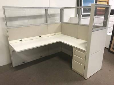 Nice Steelcase 6'x5' Office Cubicles Workstations -Lots Of Glass!