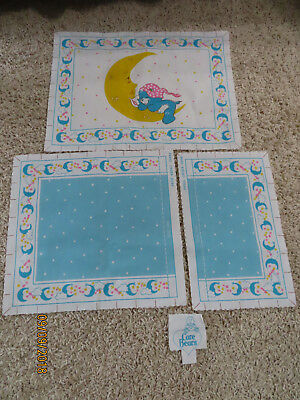 Care Bears Pillow Sham Blue Fabric Panel 1983 American Greetings