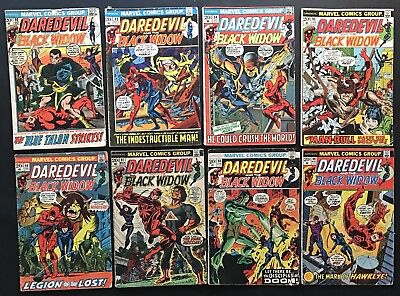 DAREDEVIL THE MAN WITHOUT FEAR #92-99. Marvel Bronze Age Comics. Black Widow