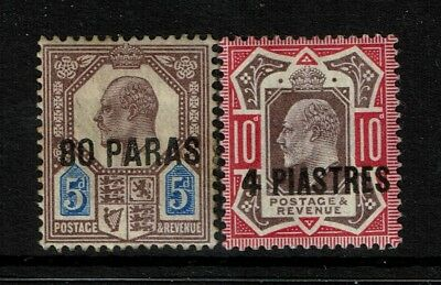 GB Offices in the Turkish Empire SG# 9 & 10, MH, Hinge Rem, 9  w. Pg rem - S2084