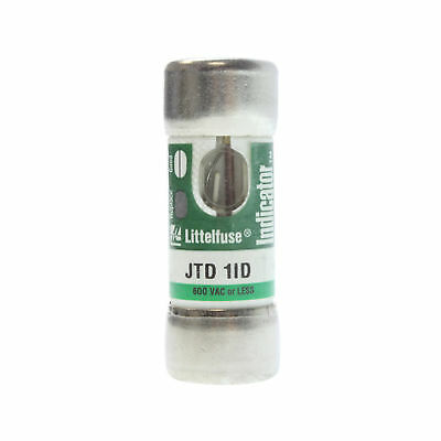 Littelfuse Jtd-1-Id Powr-Pro Time-Delay Current-Limiting Class J Fuse, 600V, 1A