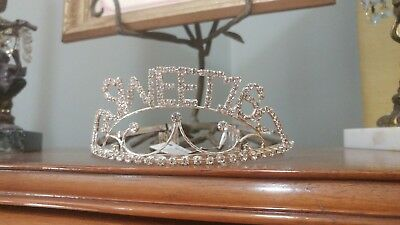 Sweet 16 Birthday Party Princess Rhinestone Crystal Crown Tiara