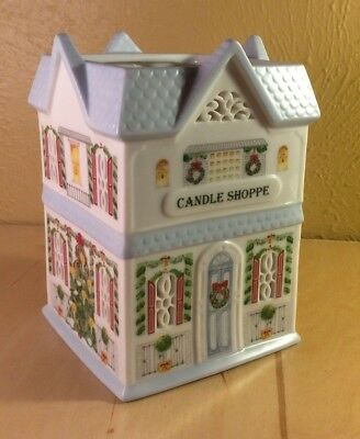 Lenox Village Porcelain Christmas Votive Candle Shoppe - Excellent Condition!