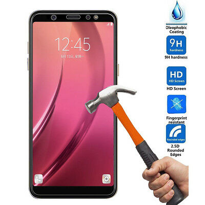 For Samsung Galaxy A6/A8/A8+ Tempered Glass Screen Protector Full Cover coverage